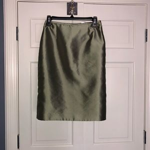 Beautiful sage pencil skirt